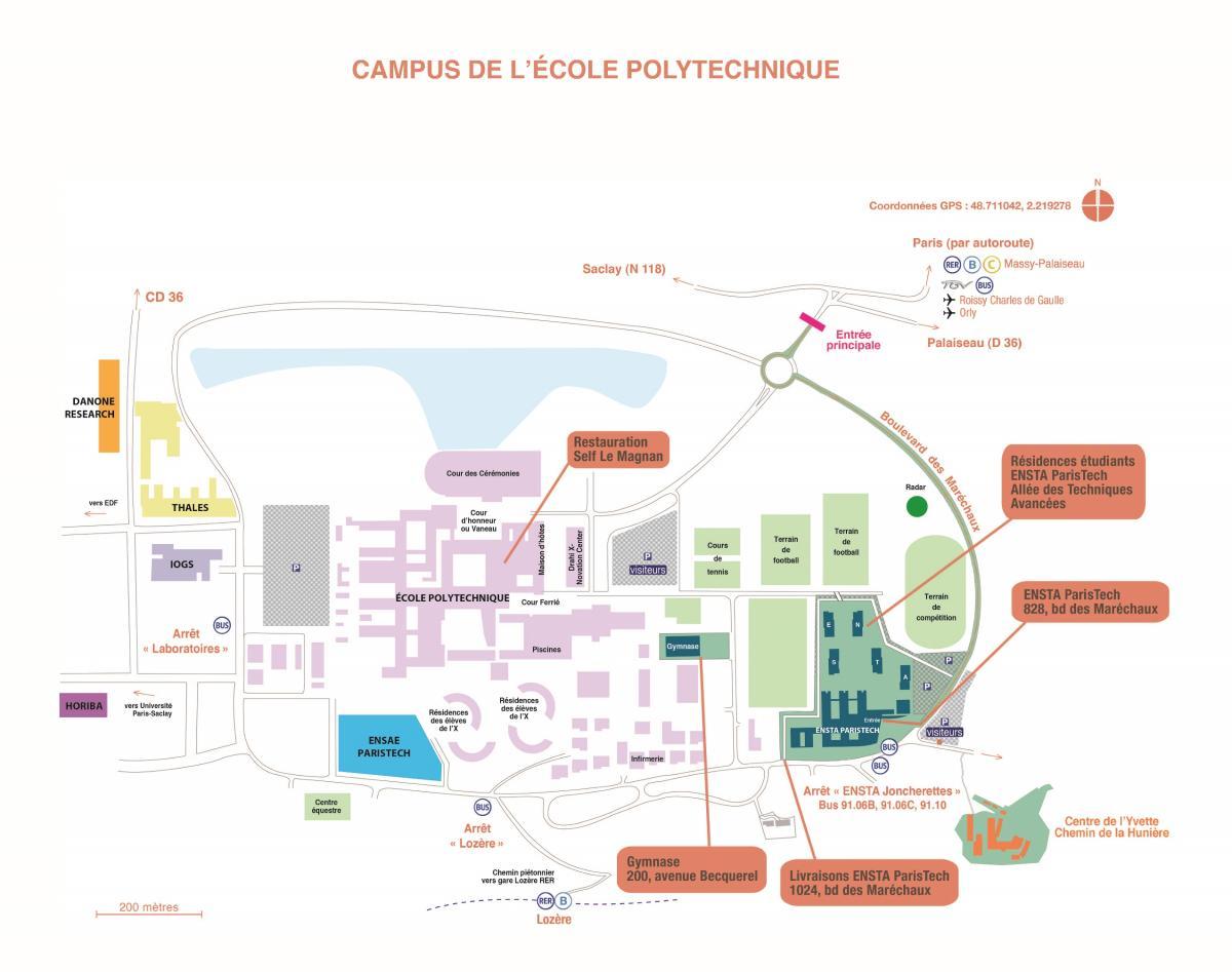 Carte Campus Bordeaux.Getting To Ensta Paristech Ensta Paristech Grande Ecole D